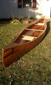 Cedar strip canoe built by Brian Prince