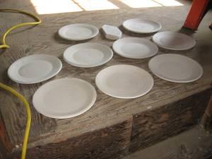 Salad plates drying
