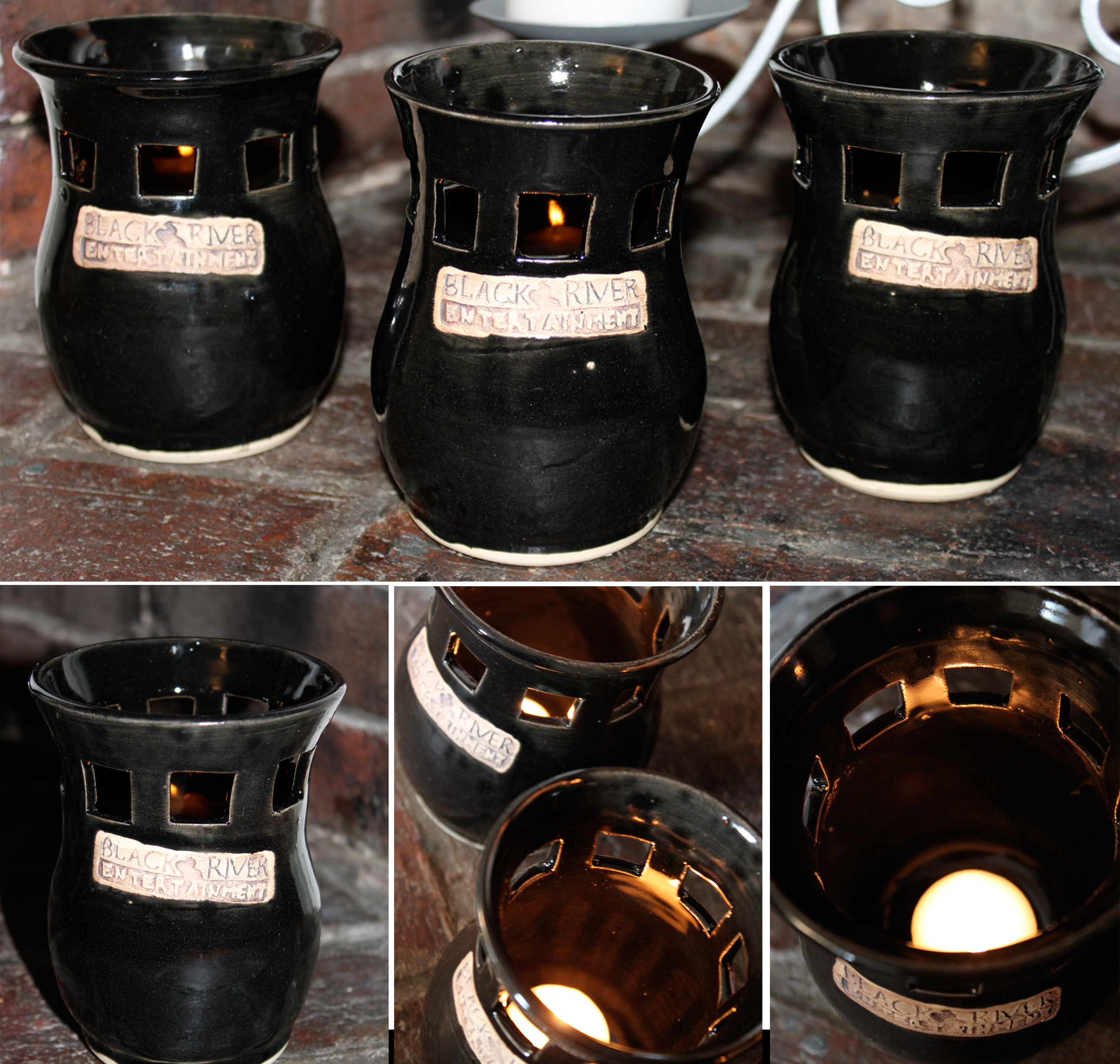 Glowing Candle Pots