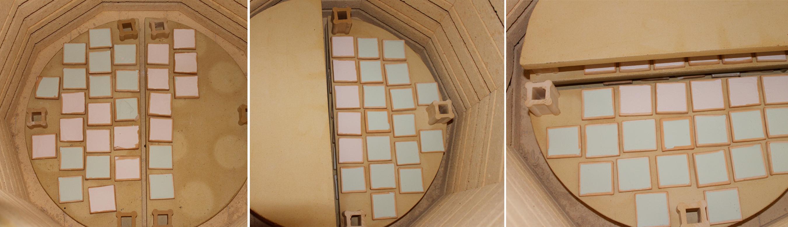 Loading tiles into the kiln